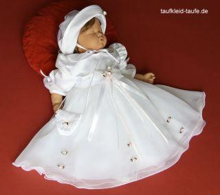 Taufkleid mit Hut Set 3 teilig für Taufe,Taufkleider, Taufkleidung