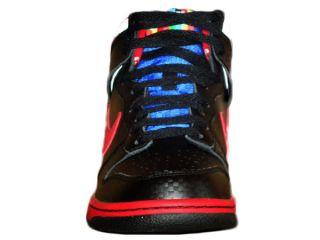 Nike Dunk High Damen High Top Sneaker Schuh Schwarz Rot Weiß Gr 38,5