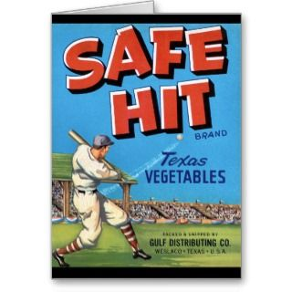 Vintage Vegetable Advertisement Safe Hit Card
