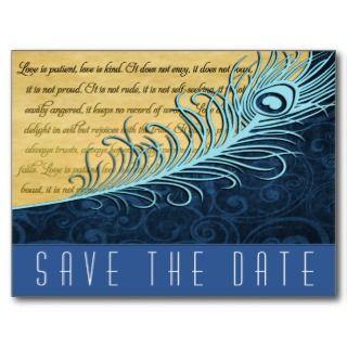 Hunter Green Monogram Camo Wedding Save the Dates Post Cards