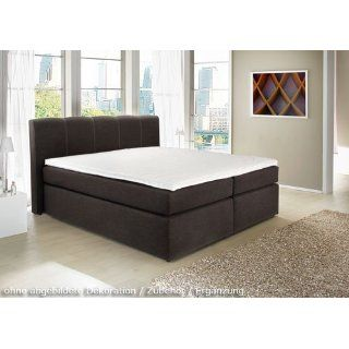 Boxspringbett aus Webstoff schwarz, Liegefläche 180 x 200 cm, inkl