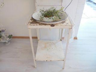 Shabby ANTIK Waschtisch Konsole Tisch EISEN Vintage alter Lack Patina