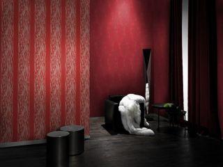 Tapete Vlies BROOKLYN 773170 Streifen rot gold 3,00€/m²