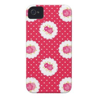 Red Shabby Style Chic Country iPhone 4 Cases