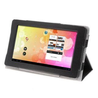 Protective Leather Case Cover for Newsmy NewPad T3 Tablet PC Black