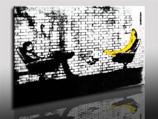 Kunstdruck Leinwandbild 60x40cm Banksy Art Bild leinwand Wandbild Bild