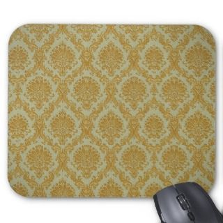 Gold Damask Wallpaper Mousepad