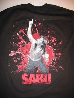 ECW SABU Death Defying Maniac Wrestling T shirt WWE TNA