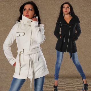 285# Damenjacke Wollmantel Fleece Woll Mantel Winter Jacke Jacket