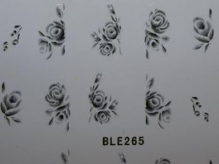 Nail Art Sticker Tattoo One Stroke BLE 265 schwarz