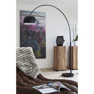 SalesFever Bogenlampe Big Deal schwarz lackiert mit Dimmer