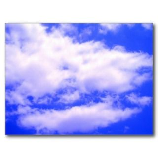 Clouds and Clear Blue Sky Postcard