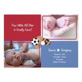 Baby All Star PHOTO Birth announcement