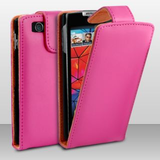 FLIP LEATHER CASE COVER FOR MOTOROLA RAZR XT910 + SCREEN PROTECTOR