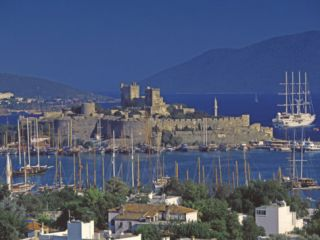 Castle of St. Peter and Yachts Moored in Harbour, Bodrum, Anatolia, Turkey Minor, asia Photographic Print by Papadopoulos Sakis