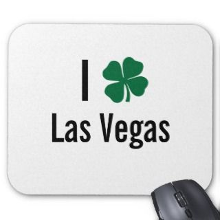 love (shamrock) Las Vegas St Patricks Day Mouse Pad