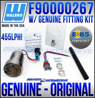 WALBRO E85 FAST ROAD / RACE 455 LPH FUEL PUMP E85 COMPATIBLE + WALBRO
