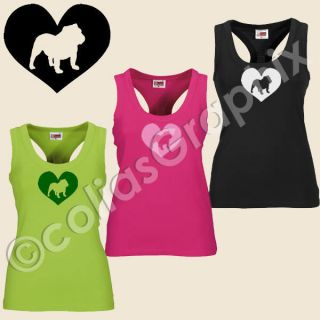 Bulldogge Fan Girls Tank Top  Frauen Shirt Art295 English Bulldog