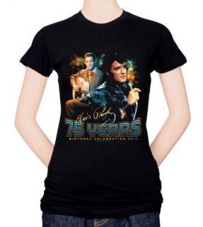 Juniors Elvis 75 Years T Shirt