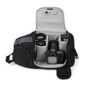 Lowepro SlingShot 202 AW SLR Kamerarucksack schwarz Kamera