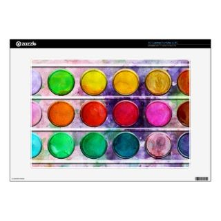 Fine Art Fun Colorful Paint Color Box Decals For Laptops