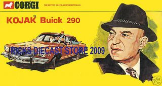 Corgi Toys 290 Kojak Police Buick Shop Display Sign