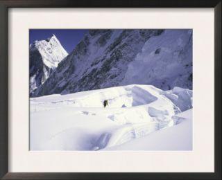 Khumbu Ice Fall and Mount Khumbutse, Nepal Prints by Michael Brown