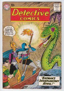 DETECTIVE COMICS # 282 Batman MARTIAN MANHUNTER 1960