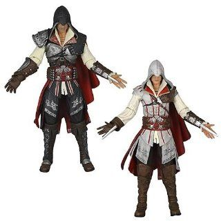 2er set ezio assassins creed action figur altair neca