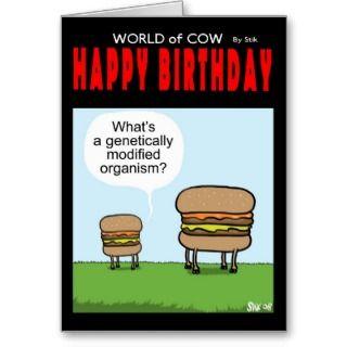 Happy Birthday GM Burger card