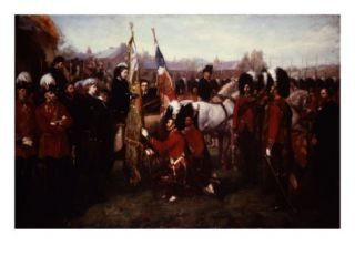 Queen Victoria of England, 1819 1901, Presenting Colours to 79th Cameron Highlanders Giclee Print