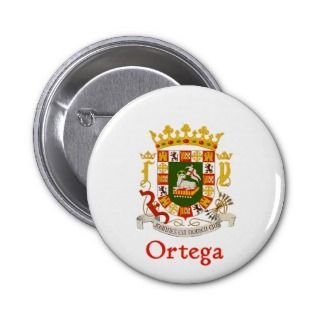 Ortega Shield of Puerto Rico Pin