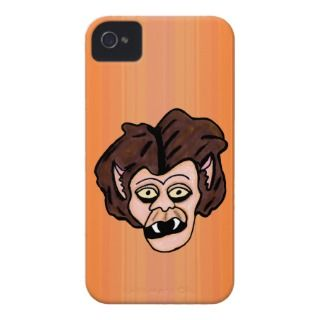 Scary Creepy Werewolf Head Fangs Cartoon Wolf Man iPhone 4 Cover