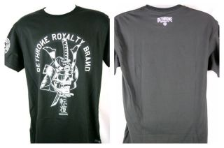 Dethrone Royalty Warrior Black T shirt New