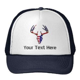 Patriotic Deer Skull Trucker Hats