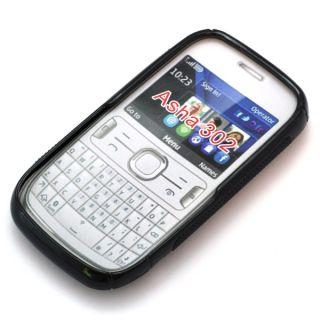 Case Silikon Hülle Tasche Schale für Nokia Asha 302 schwarz