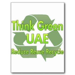 Think Green Uae Post Card