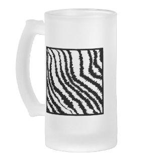 Zebra Print Mugs, Zebra Print Coffee Mugs, Steins & Mug Designs