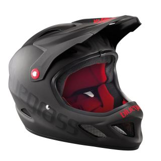 Bluegrass Explicit Full Face DH BMX DJ Helmet Black Red Medium 56 58cm