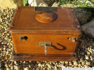 antikes Kurbeltelefon Kurbel Telefon von 1910 aus Frankreich ohne