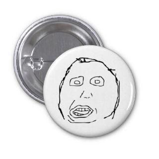 Herp Derp Idiot Rage Face Meme Button