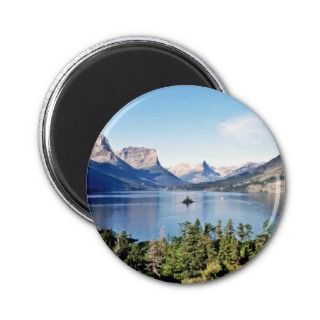 St. Mary Lake   Glacier National Park Refrigerator Magnet