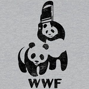 T296 WWF Panda Bear Wrestling Shirt Retro Funny Cool Mens Cool T