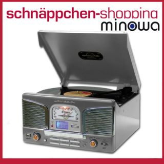 MINOWA Plattenspieler CD Player Radio und USB Port