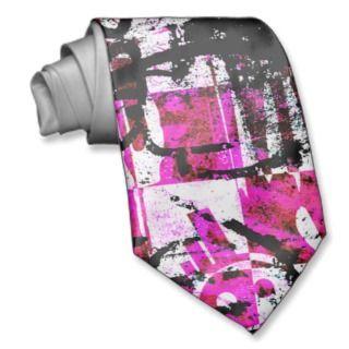 Pink Checkers Graffiti Ties