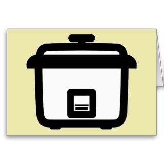 Rice Cooker ~ Japan Style Kitchen Appliance Greeting Cards