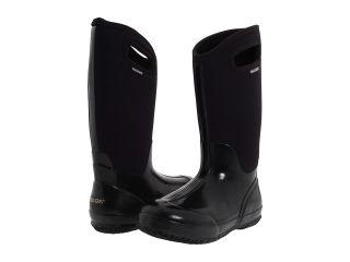 WOMENS BOGS CLASSIC HIGH HANDLES BLACK & SHINY BLACK WINTER RAIN SNOW