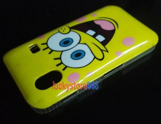 SpongeBob Hard Back Cover Case for Samsung Galaxy Ace S5830