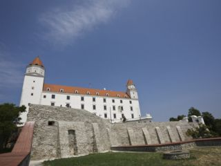 Newly Renovated Castle, Bratislava, Slovakia, ope Photographic Print by Jean Brooks