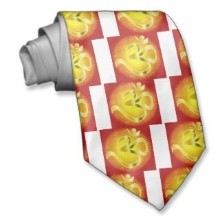 Aum or Om Symbol in yellows & reds Custom Ties